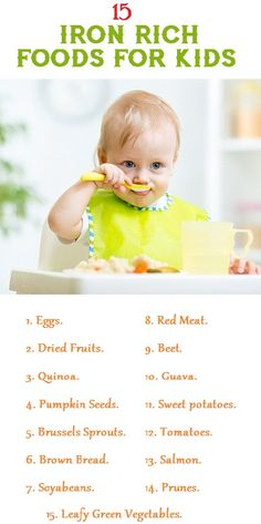 Top 15 Iron Rich Foods For Kids
