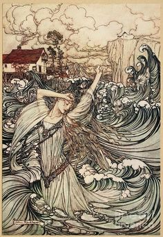 Arthur Rackham - Undine (1909) 12 Print featuring the painting Undine by Arthur Rackham