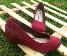 Conforto em forma de sapato! Com estes detalhes vazadinhos ficou ainda mais lindo!  #confortoCampesí