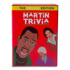 Martin Trivia: The Deluxe Edition is a trivia game based off of the hit 90's tv show Martin. This is by far our best Martin Trivia Game. It's not too easy and it's not too hard. It has 100 questions based off all 5 seasons of Martin. What's in your library? Download our complimentary free ebooks for instructions! DETAILS 90 questions Redesigned box (Base and Cover) Multiple Choice Easy-Medium strength This game is the perfect add-on to play with all of the games in The Trivia...