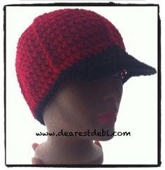 Mens Crochet Ball Cap Free Pattern by DearestDebi