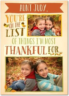 Thanksgiving Cards & Happy Thanksgiving Photo Cards | Treat by Shutterfly | http://shrsl.com/?~6xxk Just one of several creative cards that you can personalize and send digitally or on paper. Very cool.