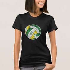 Volleyball Workouts, Volleyball Team, School Spirit Shirts, Workouts For Teens, Gold Girl, Classic Handbags, Green And Gold, Harajuku, Fitness Models