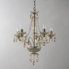 Buy John Lewis Gracie Chandelier, Antique Brass, 5 Arm Online at johnlewis.com £200