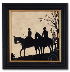 The Field Horses - Silhouette Equestrian Art Foxhunting - Foxhunting Decor at Horse and Hound Gallery