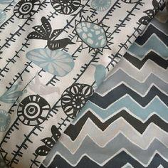 Tribal blue and gray, Short Sheet Fabrics.