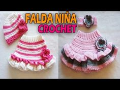 Crochet For Kids, Crochet Baby, Crochet Stitches, Baby Dress, Projects To Try, Eyeliner, Children, Youtube, Clothes