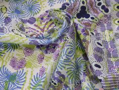 Firework Cotton Lawn Fabric. Abstract purple / green / blue firework design. A finely woven, semi-crisp fabric in 100% Cotton. Lawn has a silky, untextured feel. It is generally used for heirloom and summer dresses … WeaverDee.com