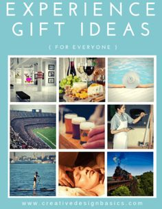 A simple guide to Experience Gifts with a list of over 75 ideas and information needed to give meaningful gifts to everyone. Blow Dry Bar, Gift Certificate Template, Design Basics, Fishing Charters, Experience Gifts, Local Attractions, Meaningful Gifts, Spa Day, Wine Tasting