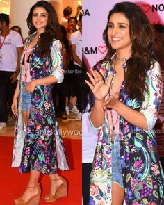 Rate the Look 1......10 @BOLLYWOOD hottie #parineetichopra rocking the @Hm look at the opening  of New @hm store in #Mumbai ! How many of you love this super fun colorful @HM separates!  Actress  #PrachiDesai  Event  Store opening #HM  Styled by  @Sanjanabatra  #instabollywood #instantbollywood #india #indian #actress  #mumbai  #bollywood  #stylefile  #celebritystyle #Celebstyle #fashionphotography  #styling #stylefile #parineetichopra #denimsorts #accessories #hairstyle #makeup…