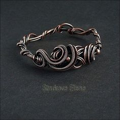 Amazing wire work - Strukova Elena - браслетик..