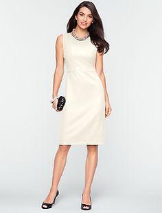 Italian Flannel Seamed-Bodice Dress