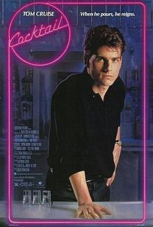 Cocktail is a romantic drama film released by Touchstone Pictures in 1988. Directed by Roger Donaldson, the film is based on the book of the same name by Heywood Gould, who also wrote the screenplay. It stars Tom Cruise as a talented and ambitious bartender who aspires to working in business and finds love with Elisabeth Shue while working at a bar in Jamaica.