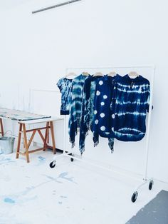 The art of shibori with MiH Jeans in #fashion 2014.