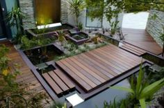 Compact water features, small-space landscaping, garden inspiration, and of course all things relating to container water gardening, patio ponds and much more. Modern Landscaping, Backyard Landscaping, Landscaping Ideas, Backyard Ideas, Balcony Ideas, Landscaping Software, Backyard Projects, Backyard Gym, Patio Pond