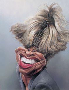 Tina Turner celebrity #caricature illustration by Damon Chernavsky