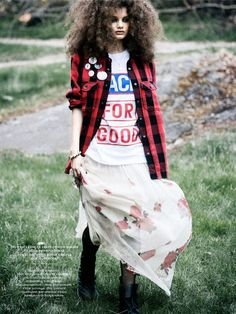 visual optimism; fashion editorials, shows, campaigns & more!: modern grunge: signe belfiore by eric broms for elle sweden august 2013