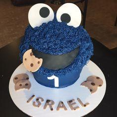 Cookie Monster Smash Cake 🍪