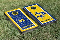 McNeese State Cowboys Repeat Logo Wallpaper Cornhole Set