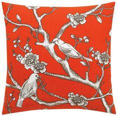 dwellstudio vintage blossom persimmon throw pillow from ABC Carpet & Home @abccarpet