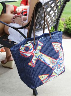 The Seashore Tote in Marine Paisley was the bridesmaids gift pick of Rebecca, who is having a destination wedding in Cabo.