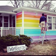 """Love thy neighbour? The Westboro Baptist Church has a new neighbour and he has painted his house in all the colours of the rainbow. Planting Peace, a progressive nonprofit organization founded by Aaron Jackson and John Dieubon in 2004 for the purpose of spreading peace in a hurting world, has launched a new project, """"The Equality House""""."""