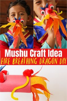 Mushu Craft Idea | DIY Fire Breathing Dragon - upcycle your old toilet paper rolls into this fun and easy Disney Mulan inspired kids craft, perfect for a birthday party, kid activity or family movie night Disney World Tips And Tricks, Disney Tips, Disney Love, Disney Recipes, Walt Disney, Fun Crafts, Crafts For Kids, Amazing Crafts, Fire Breathing Dragon