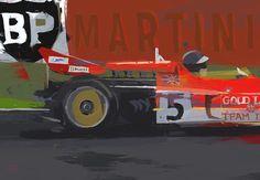 DOUG GARRISON :: MOTORSPORTS ARTWORK :: JOCHEN RINDT, 1970 F1 CHAMPION ARTWORK