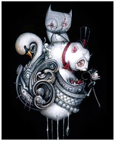 """Greg """"Craola"""" Simkins is in the midst of final preparations for his show titled """"The Pearl Thief"""". Today marks the beginning of my Artist. Goth Art, Pop Surrealism, Surreal Art, Cool Artwork, Painting & Drawing, Amazing Art, Modern Art, Contemporary Art, Fantasy Art"""