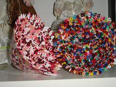 Smeltede skåle, lavet af hama perler