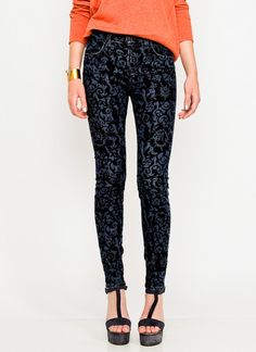 J Brand Jeans, Maria High Rise Skinny in Brocade