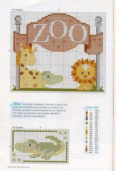 zoo (with some x-mas cross stitch too)