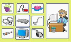 Learning English For Kids, Teaching English, Preschool Education, Preschool Learning, File Folder Games, Community Helpers, Speech Therapy, Card Games, Kindergarten
