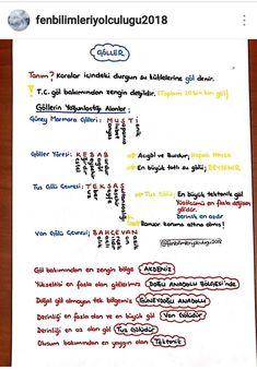 Fenbilimleriyolcululuğu2018 Mehmetegitcografya instagram takip et. #kpss#coğrafya School Notes, Problem Solving, Geography, Art Lessons, Karma, Nostalgia, Language, Bullet Journal, Study