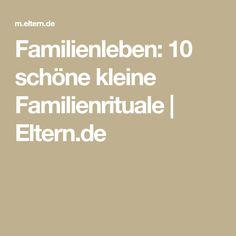 Familienleben: 10 schöne kleine Familienrituale   Eltern.de