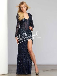 Mac Duggal Evenings | Order Online or by Phone | Party Dress Express | 657 Quarry Street | Fall River, MA | 508-677-1575 | partydressexpress.com | #MacDuggal #SocialOccasion #Ball #Gala #NavyBlueGown