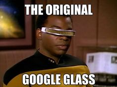 Geordi La Forge from Star Trek has 99 problems but a breach ain't one. Dying of laughter right now. Lava, 99 Problems, Reading Rainbow, Geek Out, Nerd Geek, My Tumblr, I Laughed, Atlanta, Funny Pictures