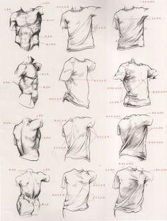 教你怎样用衣纹去表现人体结构 - 动漫教...@拙剑藏锋采集到人体结构(395图)_花瓣游戏