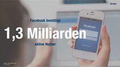 #Facebook bestätigt 1,3 Milliarden aktive Nutzer