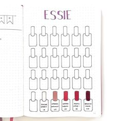 BuJo nail polish inventory -- or -- your favorites at the nail salon.