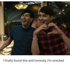 I think this is one of my favourite Dan + Phil photos
