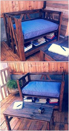 This is a complete project that occupies our vision with its attractive and decent look. This reclaimed wood pallet sofa project offers us to place everything inside the cube blocks. What distinguish us from others is we craft furniture that is in regular domestic use of our households. #pallets #woodpallet #palletfurniture #palletproject #palletideas #recycle #recycledpallet #reclaimed #repurposed #reused #restore #upcycle #diy #palletart #pallet #recycling #upcycling #refurnish #recycled