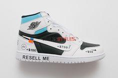 d3afa672cc8 Custom Off-White x Air Jordan 1 White Black Not For Resale