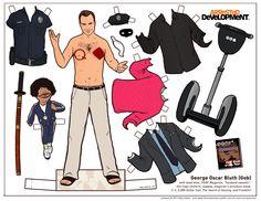 figurine papier arrested devellopment poupee illustration 06 Figurines en papier des personnages dArrested Development  design bonus