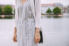 summer striped linen dress