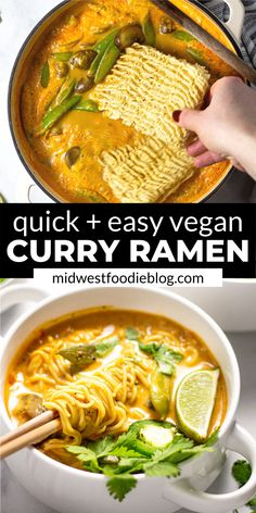 Easy Vegan Ramen Noodles You are in the right place about simple Budget Recipes Here we offer you the most beautiful pictures about the Budget Recipes you are looking for. When you examine the Easy Vegan Ramen Noodles part of the picture you can get … Vegan Dinner Recipes, Vegan Dinners, Whole Food Recipes, Soup Recipes, Vegetarian Recipes, Cooking Recipes, Healthy Recipes, Easy Recipes, Vegan Quick Dinner