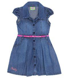 Vestido Infantil Polly em Jeans   - Lojas Renner