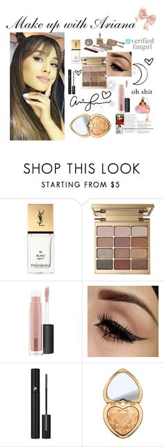 """Make up WIth Ariana grande"" by faanciella ❤ liked on Polyvore featuring Yves Saint Laurent, Stila, MAC Cosmetics, Lancôme, Too Faced Cosmetics and ariana"