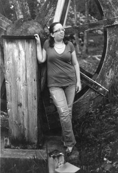 Jacqueline at the water wheel 2010 | Kahla Voyles