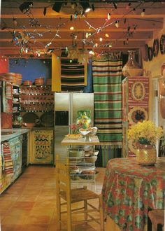 cover pantry or shelves in hanging blanket